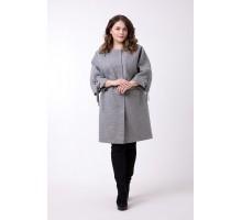 Пальто большого размера без воротника РК1186-621