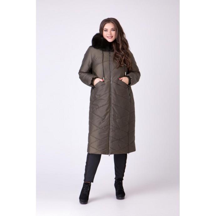 Пальто с песцом РК111167-693N