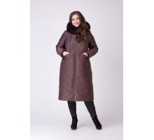 Пальто с песцом РК111168-693N