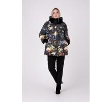 Куртка зимняя без меха с принтом РК111161-692