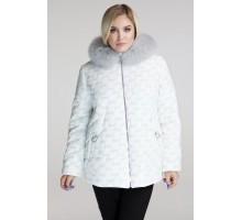 Зимняя светлая куртка с натуральным мехом РК111162-680
