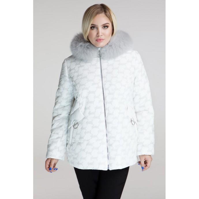 Зимняя куртка с натуральным мехом РК111162-680