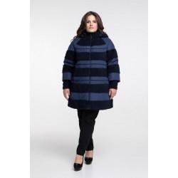 Пальто зимнее синее РК111130-652