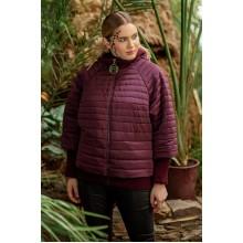 Бордовая куртка-пончо осенняя РК1111108-742