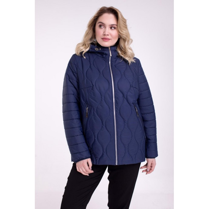 Двухсторонняя синяя куртка осенняя РК1111115-738