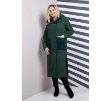 Пальто женское миди зелень РК11108-628