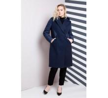 Пальто женское большого размера синее РК1184-619