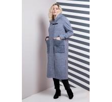 Пальто женское миди меланж РК11107-628