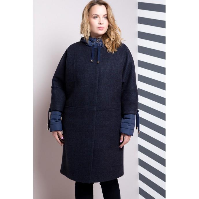 Двойка куртка и пальто синее РК11104-624