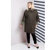 Двойка куртка и пальто хаки РК11105-624