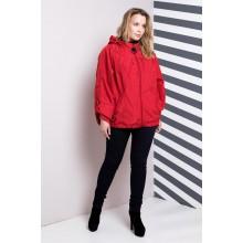 Женская ветровка большого размера красная РК1178-633