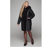 Пальто зимнее чёрное РК1128-606