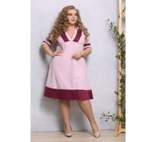 Платье Смайл лиловое РОЗS515