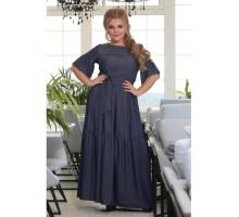 Платье Лорен джинс синее  РОЗS603