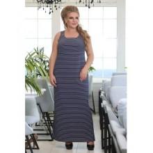 Платье Анталия темно синее в полоску РОЗS613