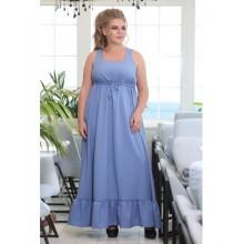 Платье Гранула джинс голубой РОЗS614