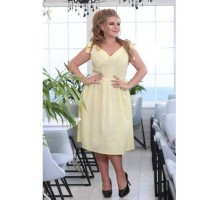 Платье Рада желтое РОЗS617
