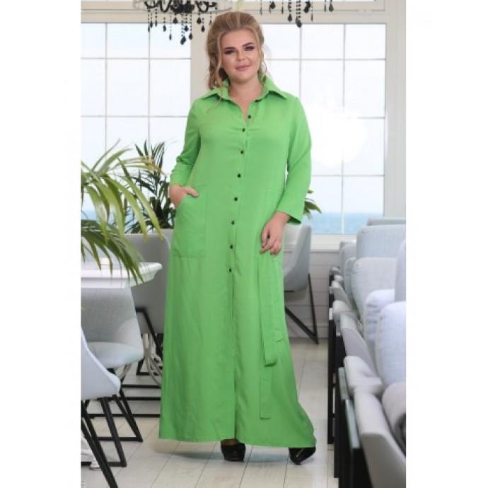 Платье Лантана зеленое РОЗS621