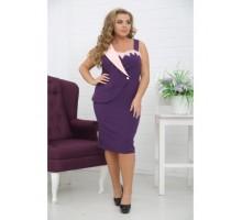 Платье Бизнес-Леди фиолет РОЗS443