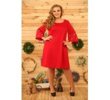 Платье Олди красное РОЗS339