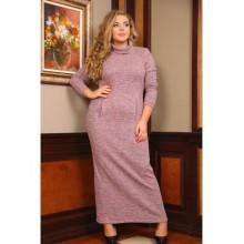 Платье Север длинное розовый РОЗS103