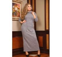 Платье Север длинное серый РОЗS102