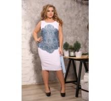 Платье Каталина голубой гипюр S15
