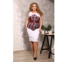 Платье Каталина марсала гипюр S14