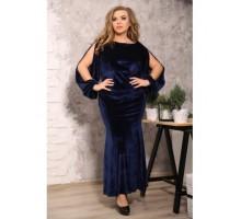 Платье Оливин синий S36