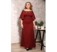 Платье Ириска марсала S40