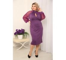 Платье Парфюм фиолет РОЗS214