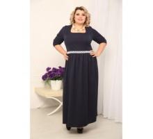 Платье Текстиль т.синее РОЗS213